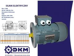 Silnik elektryczny 1 fazowy ML 90L-4 1,5kW 1400 90B5 (24/200)= b14
