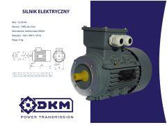 Silnik elektryczny 3 fazowy OMT4 63 1-4 0,18kW 1400  B14 (11/90) + Łapy