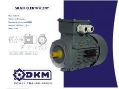 Silnik elektryczny 3 fazowy OMT4 63 1-4 0,25kW 1400  63B14 (11/90)