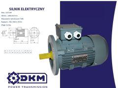 Silnik elektryczny 3 fazowy OMT4 71 1-4 0,25kW 1400 B5 (14/160)