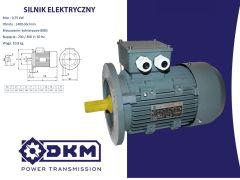 Silnik elektryczny 3 fazowy OMT4 80 2-4 0,75kW 1400 B5 (19/200)