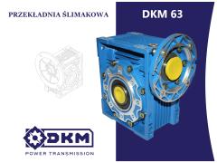 Przekładnia ślimakowa DKM 063 i5 90B14 (24/140) DØ25